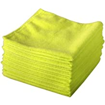 20 Pack of Yellow Microfibre Genuine Exel Brand Magic Cleaning Cloths. Chemical Free Cleaning. Anti Bacterial Microfiber Cloths for Amazing Smear Free Wiping.