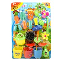 aoixbcuroc 1 Set New Plastic Flower Planting Tool Toy Children Play House Game Garden Toys Set For Girls Boys