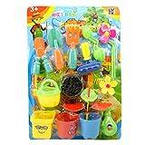 Hletgo 1 Satz Neue Kunststoff Blume Pflanzwerkzeug Spielzeug Kinder Spielhaus Spiel Garten Spielzeug...