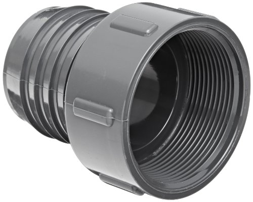 Spears PVC Tube Fassung, Adapter, Schedule 40, Grau, Stacheldraht X NPT Buchse, 3/4