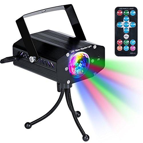 Lampe de Scène avec Télécommande KINGTOP DJ Projecteur à Effets Discothequ
