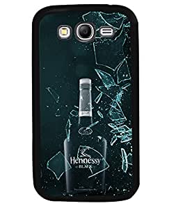 PRINTVISA Henessy Black Premium Metallic Insert Back Case Cover for Samsung Galaxy Grand Neo - I9060I - D5999