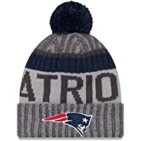 a6e9dade94d New England Patriots New Era 2017 NFL Sport Knit Cuffed Hat with Pom -  Graphite