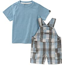 Calvin Klein Baby Boys' Interlock Top with Woven Shortall