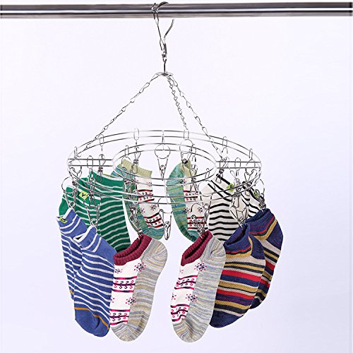 XIAOYANNIU Multifunktions-Unterwäsche Socken Kleiderständer Multi-Griff Rollentyp Teleskop Haushalt Multifunktions Windproof Baby Kleiderbügel Kleiderbügel