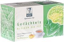 BADERs Té de farmacia Memoria. Manténgase en forma. Té verde, extracto de té verde, sustancia vital epigallocatequina-gallato, melisa, ginkgo, romero. Número de registro farmacéutico: 01179490