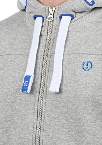 !Solid BenjaminZip Herren Sweatjacke Kapuzenjacke Hoodie mit Kapuze Reißverschluss und Fleece-Innenseite, Größe:S, Farbe:Light Grey Melange (8242) - 4