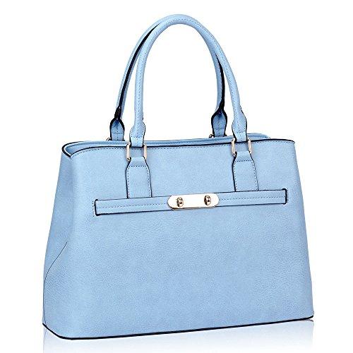 HB Style, Borsa tote donna multicolore Multicolor M Blue