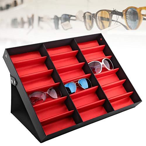 Alucy 18 Grids Glasses Display Stand Sonnenbrillen Aufbewahrungsbox Gläser Schmuck Organizer, Sonnenbrillenetui und Aufbewahrungsbox Brillen und Sonnenbrillen Display, Sonnenbrillen
