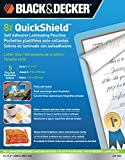 Black and Decker QuickShield Self-Adhesive Letter Size Laminating Pouches, 8-mil, 5 Pack (LET-5SS)