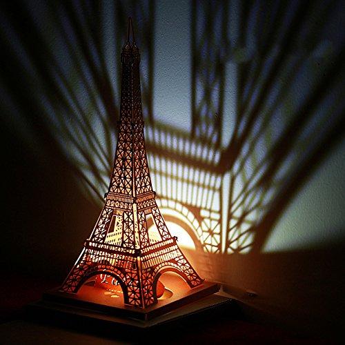 Global brands online christmas 2017honana ht-907led light model diy torre eiffel biglietto d' auguri di natale brithday gift