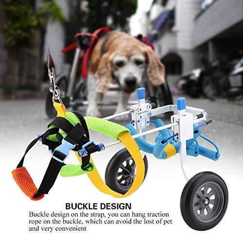 51Pe37rY1wL - Silla de ruedas para perros, Rehabilitación de patas traseras Discapacitados Perro asistido Caminan dos ruedas Silla de ruedas ajustable para mascotas para gatos adultos Perros pequeños Chihuahua de P