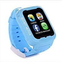 Flat K3 Reloj Impermeable A Prueba De Agua Niños Adultos Posicionamiento Teléfono Reloj GPS Posicionamiento Monitor,Blue
