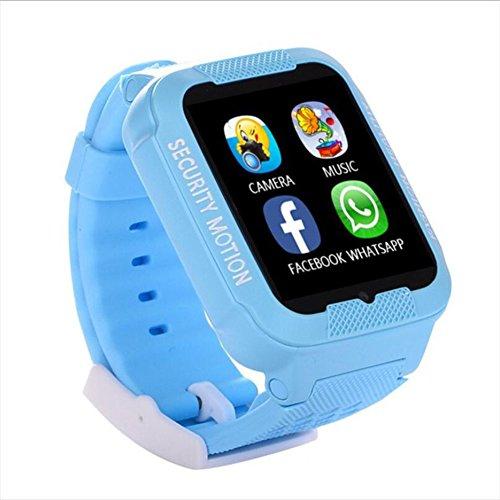 Human K3 Wasserdichte Intelligente Uhr Kinder Erwachsene Positionierung Telefon Uhr GPS-Positionsmonitor,Blue
