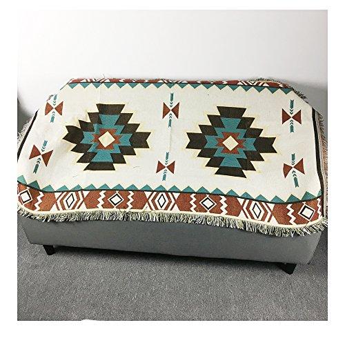 Azteca de Bohemia 90x 150cm sofá diseño geométrico Tribal Ethnic manta alfombra manta alfombra American Indian algodón