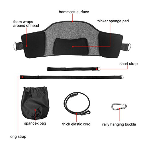 Hals Hängematte Nackenmassagegeräte, Tragbare Neck Hammock Nackenschmerzen Schmerzlinderung Kopf Nacken Traktion Massagegerät mit Augenmaske für Hals Männer Frauen Bahre