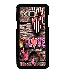 Fuson Premium 2D Back Case Cover Love With Pink Background Degined For Samsung Galaxy J3::Samsung Galaxy J3 J300F