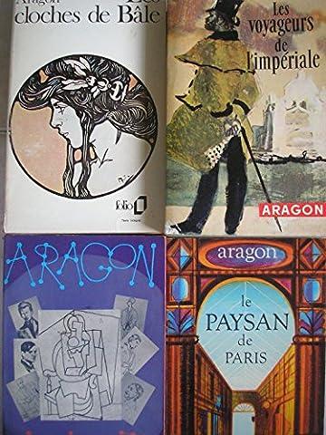 aragon - lot 4 livres : le paysan de paris - les voyageurs de l