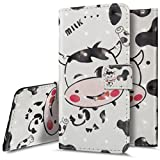 For Samsung Galaxy S8 Plus Case,Wallet Case for Samsung Galaxy S8 Plus, Ukayfe 3D Creative White Cows Pattern Design Diamond PU Leather Rhinestone Bling Flip Case Wallet Case Magnetic Closure Book Style Protective Case Cover Skin Pouch with Card Slots & Hand Wrist Strap For Samsung Galaxy S8 Plus, Cute Cow