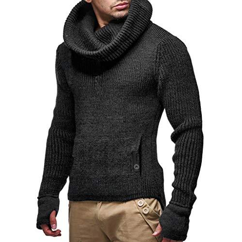 Herren Einfarbig Rollkragenpullover Slim Pullover Sweater Knitted Tops Kölner Karneval Halloween Weihnachten Jumper CICIYONER