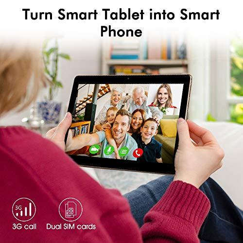 Tablet 10.1 Pollici, MAD GIGA Tablet Portatile con 2 GB RAM 32GB ROM, Doppio Sim Card, Wifi e Bluetooth 4.0, Android 6.0, Angolo di Visione di 170°, Fotocamera con Risoluzione 1280 x 800 HD.