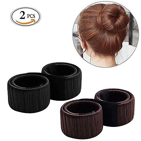 MLMSY Women Hair Styling Disk Beautiful Donut Bun Maker Former Foam French Twist Hairstyle Clip DIY Tool Doughnuts Hair Bun Make (2