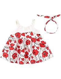 Vestido Para Bebé NiñAs DRESS Start® Vestido Linda ImpresióN Floral Vestido De La Honda Sin Mangas Princesa Fiesta Ropa Bebé NiñAs…