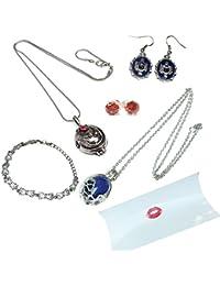 Vampire Diaries Geschenkpackung . Halsketten , Ohrringe und Armband in Kissenkasten