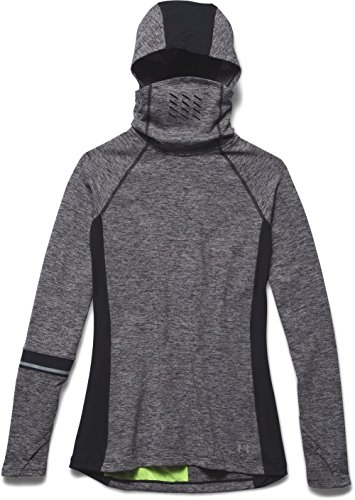 Under Armour Damen Running Langarmshirt Layered Up Storm Hoody Shirts/Langarm, Blk/Ref, XS - Coldgear Hoody