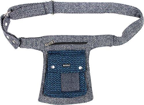 Moshiki Side Pocket #11 Tweed (Grey Blue 2) (Tweed-wrap)