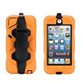 iPod Touch 6 Case,iPod Touch 5 Case - Hard belt clip design with Soft Hybrid Armor Defender Sports Combo Case for Apple iPod Touch 5 Generation iTouch