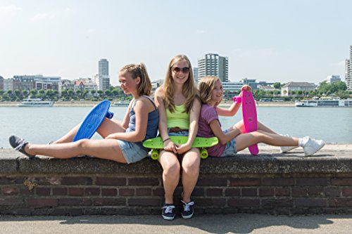 HUDORA Unisex - Kinder 12137 Retro Skateboard, himmelblau -