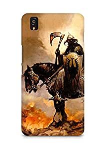 Amez designer printed 3d premium high quality back case cover for OnePlus X (Fantasy rider horse fire)