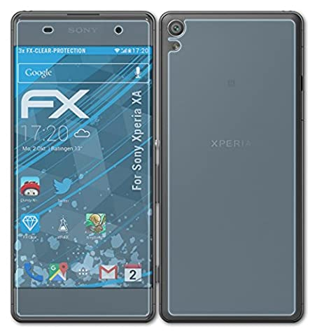 Sony Xperia XA Schutzfolie - 3er Set atFoliX FX-Clear kristallklare Displayschutzfolie