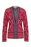 IVKO Jacquard-Jacke mit klassischem Paisley-Muster Rot (42)