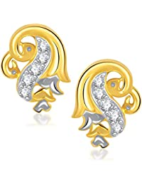 VK Jewels Dual Mayur Gold And Rhodium Plated Alloy Earrings For Women & Girls Made With Cubic Zirconia -ER1193G...