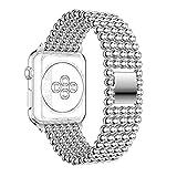 Cinturino per Apple Watch 42mm, Rosa Schleife iWatch 42mm cinque tonde design smart Watch Band sostituzione polso banda cinghia braccialetto fibbia per Apple Watch Band serie 1/serie 2, sport, Edition tutti i modelli