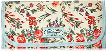 The Vintage Cosmetic Company Brush Roll Floral