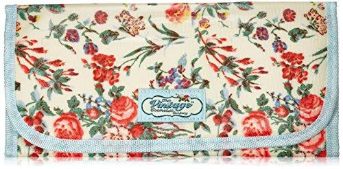The Vintage Cosmetic - Estuche en rollo para pinceles, diseño floral