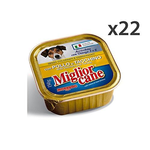 Set 22 MIGLIOR CANE 150 Gr. Umido Pollo-Tacchino Cibo per cani
