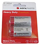 AgfaPhoto Zinc Chloride Heavy Duty C R14 1.5V Batteries, One Size