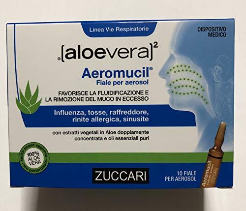 ZUCCARI [aloevera]2 - AEROMUCIL 10 Fiale da 5ml per Aerosol