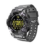 Smartwatches BM18 Smart Watch Alarm Clock Stopwatch Bluetooth Sports Outdoor Fitness Tracker IP67 Waterproof Wristwatch,Gray