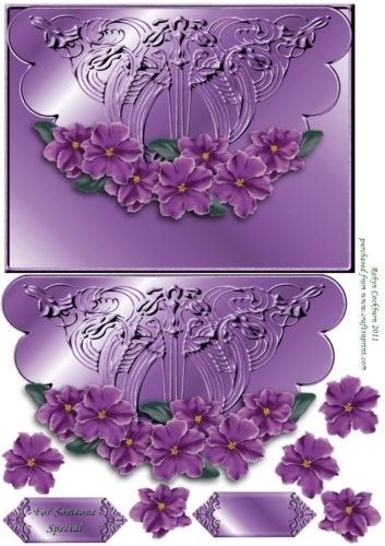 africano-amatista-diseno-de-violetas-scallop-sobre-tarjeta-frontal-por-robyn-cockburn
