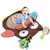 Watooma Krabbeldecke - Große Baby Aktivität Spielen Matte, Kinder Kriechende Pädagogische Spielzeug Spielteppich Spielmatte Baby Teppich für Lernen Spiel Weich Gepolstert, 76*76cm (Eule)