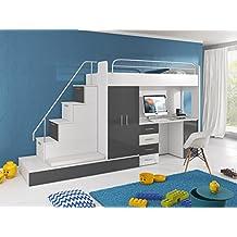 Furnistad Kinderzimmer Komplett Sun | Kinder Hochbett Mit Treppe,  Schreibtisch, Schrank Und Gästebett