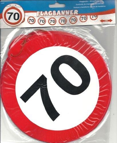 kehrsschild 12Meter BANNER–70. Geburtstag (70 Geburtstag Party)