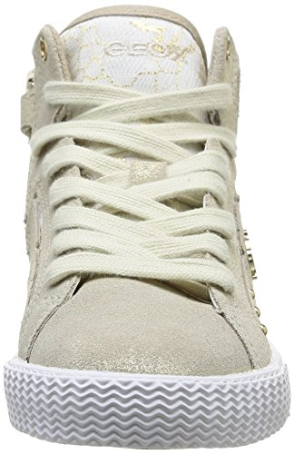 Geox J SMART GIRL B, Sneaker alta bambina Marron (Lt Gold)