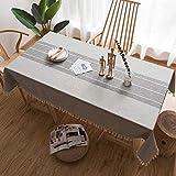 IUYWL Nappe en Lin Coton Couleur Unie Table Basse Nappe rectangulaire Nappe de Restaurant Nappe de Table (Couleur : A, Taille : 140cm×200cm)...