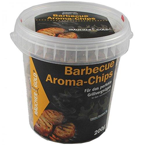 Räuchergold Aroma Woodchips 200g Aromaholz Alkohol Räucherspäne Grillen Räuchern Räucherchips BBQ